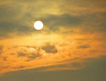 Sun, Weather, Sunrise, Winter, Clouds, Cold, Nature