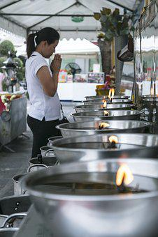 Prayer, Flame, Temple, Fire, Candle, Oil, Lamp, Bonfire