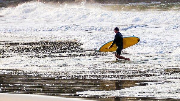 Mar, Beach, Sand, Litoral, Waves, Foam, Surf, Surfer