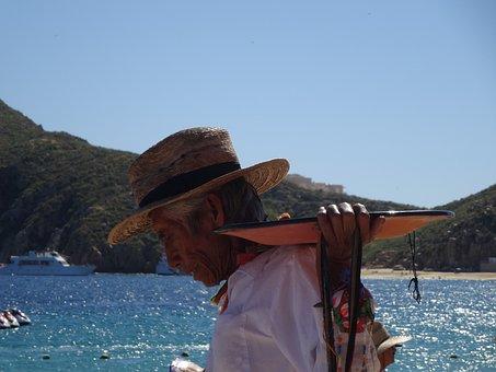 Beach, Seller, Poverty, Los Cabos, Street Vendor