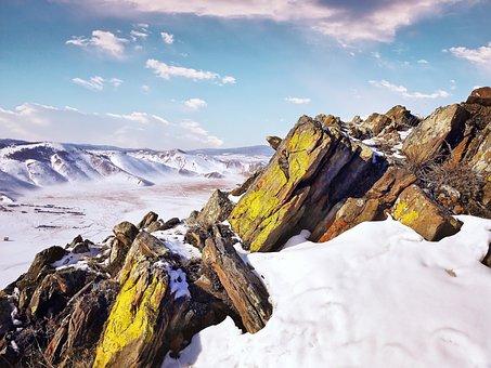 Weave, Wintry, Rock, Sun, Sunny, Snow, Winter, Nature