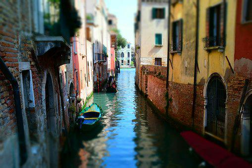 Venice, Water, Italy, Gondola, Boot, Summer, Channel