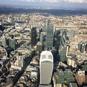 Aerial, London, City, England, Architecture, Capital