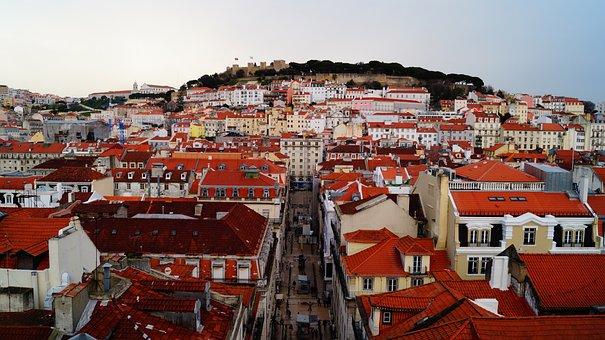 Lisbon, Potugal, Travel, Vacation, Beach, Evening