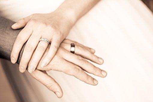 Hands, Couple, Rings, Wedding, Bride, Groom, Love, Ring