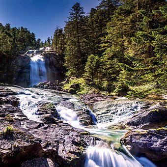 Waterfall, Nature, Landscape, Water, Waterfalls, Forest
