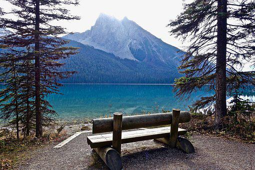 Seat, Chair, Outdoors, Seating, Wooden, Mountains, View