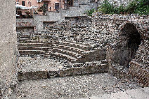 The Amphitheater, The Ruins Of The, Ancient Ruins