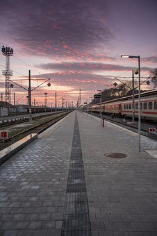 Train, Train Station, Travel, Burgas, Bulgaria, Railway