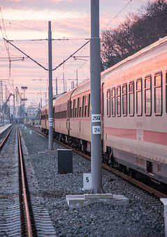 Train, Train Station, Travel, Burgas, Bulgaria, Railway