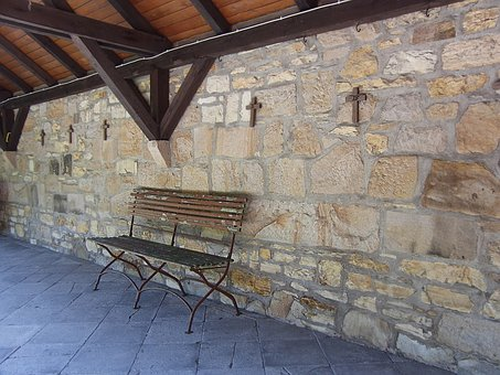 Bank, Bench, Monastery, Benches, Rest, Silent