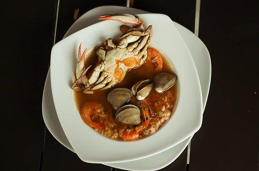 Crab, Dish, Campeche, Food, Hearty, Clams, Antiques