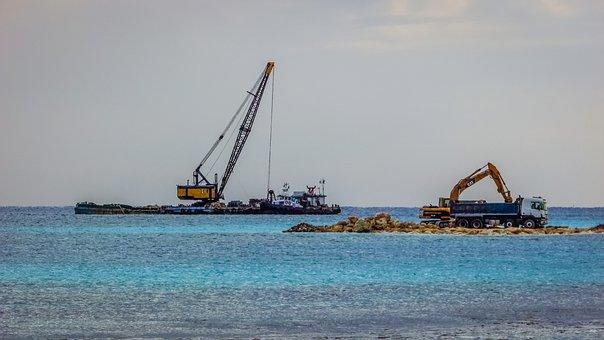 Excavator, Truck, Dredger, Floating Platform, Dredging