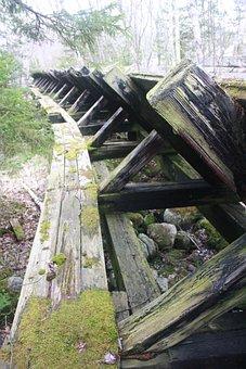 Vintage, Logging, Old, Damaged, Channel, Equipment