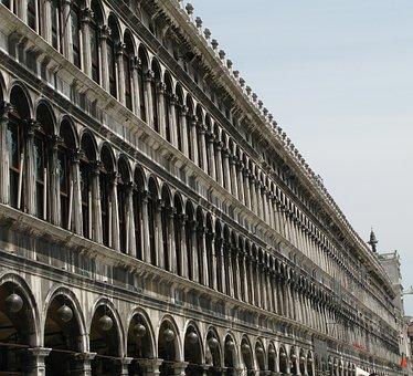 Venice, Arches, Facade, Arcades, Masonry