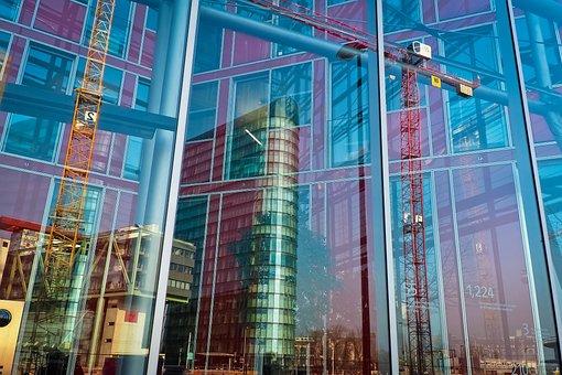 Architecture, Mirroring, Modern, Facade, Building