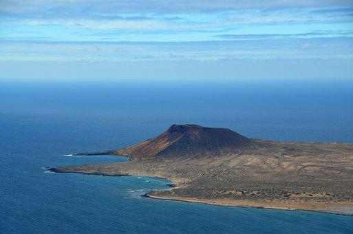 Volcano, Island, Volcanic, Nature, Sea, Summer