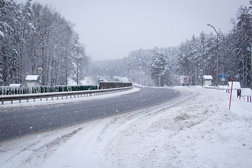 Road, Forest, Snowy Road, Journey, The Way, Trees, Tree