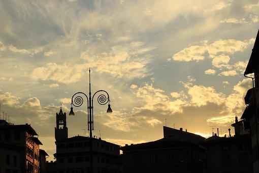 Florence, Sunset, Italy, Urban Landscape, Backlight