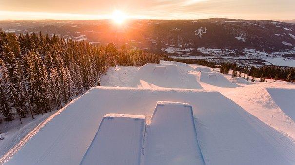 Beautiful, Winter, Sunset, Dawn, Landscape, Snow