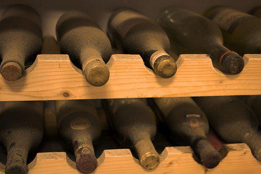 Cellar, Bottles, Wine, Red Wine, Shelf, Enoteca