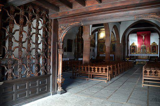 Church, Wood, Old, Religion, Input, Bank, Church Pews
