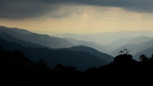 Mountain, Sunlight, Landscape, Hill, Sun, Peak, Top