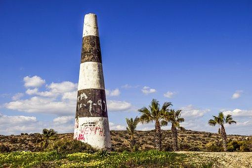 Cone, Delimited, Sign, Concrete, Landscape, Boundary