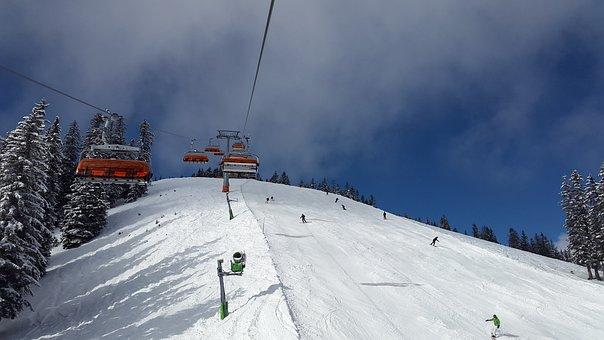 Chairlift, Alpine Skiing, Skiing, Ski, Downhill Skiing
