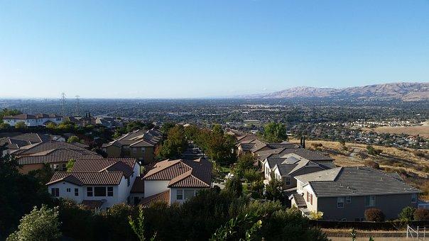 Valley, Mountain, Homes, Bay Area, South Bay Area