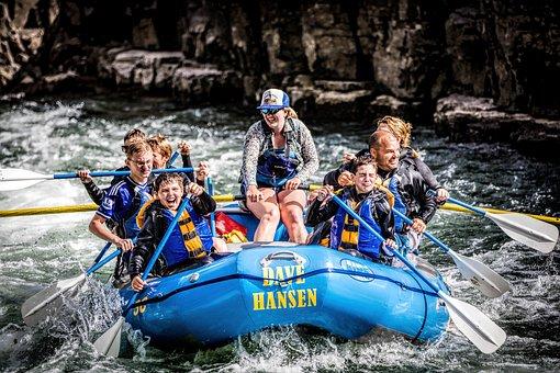 People, White Water, Rafting, Snake River, Wyoming