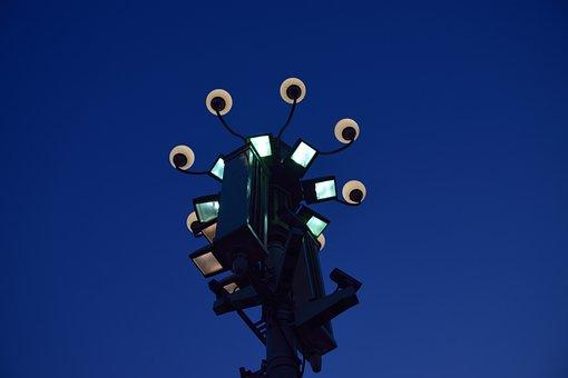Street Lamp, The Night, Beijing