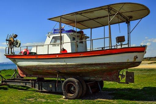 Boat, Vessel, Trailer, Repair, Marine, Fishing Boat