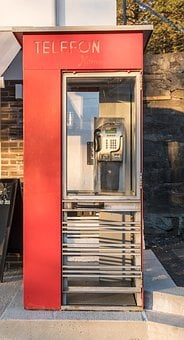 Phone Booth, London Style, Red, Retro, Telephone, Box