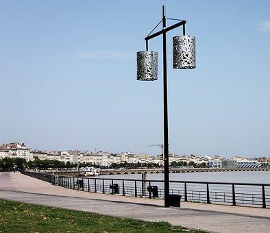 Bordeaux, City, Promenade, Street Lamp, France