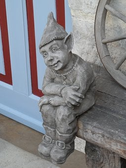 Dwarf, Sculpture, Garden, Fabric, Imp, Kobold