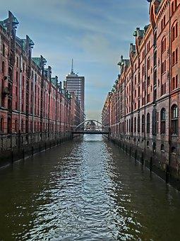 Hamburg, Speicherstadt, Old Speicherstadt, Warehouse