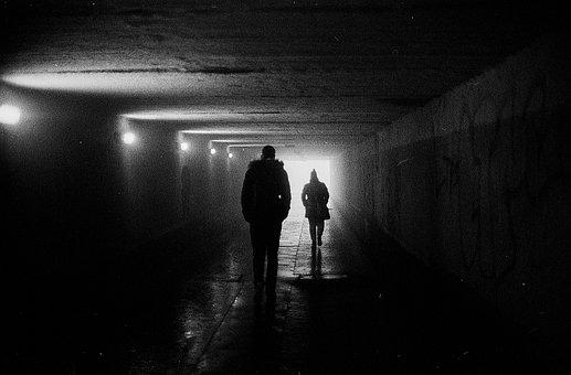Underground, Shadow, Light, Dark, Wall, Tunnel, Stone