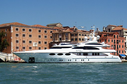 Yacht, Luxury, Boat, Venice, Italy, Beautiful, Channels