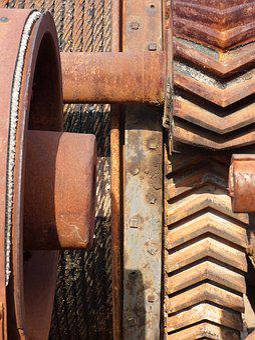 Machine, Mechanism, Machinery, Gear, Iron, Vintage