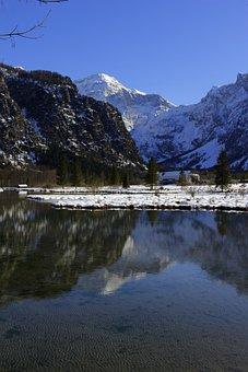Mountain, Water, Lake, Landscape, Sky, Alpine