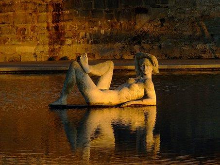 Statue, Street, Portugal, Fort Santa Catarina