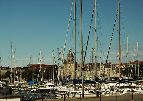 La Rochelle, City, Promenade, Harbor Ships