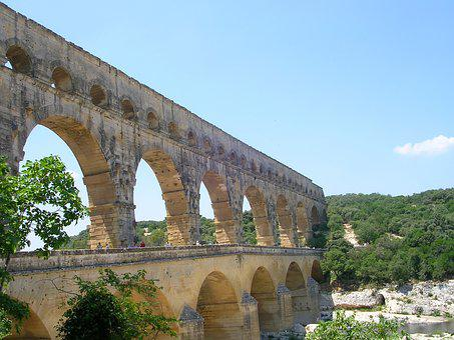 Pont Du Gard, Aqueduct, Architecture, Roman, France