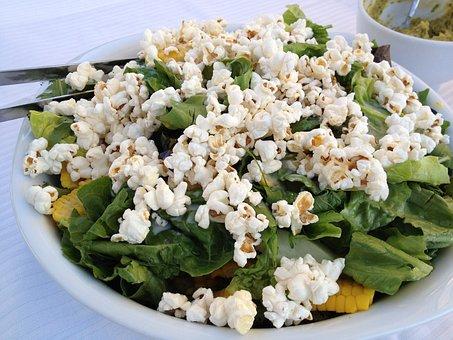 Salad, Popcorn, Salad Bowl Of