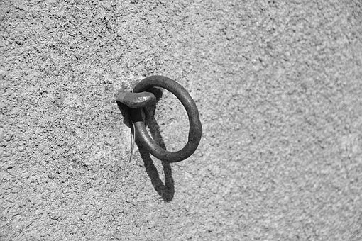 Ring, Metal, Rust, Scrap, Old, Wall, Iron, Outside