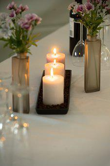 Candles, Dinner, Table, Dining, Setting, Candlelight