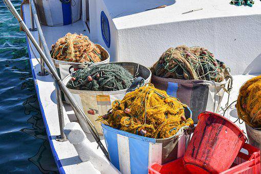 Nets, Boat, Fishing, Sea, Traditional, Equipment