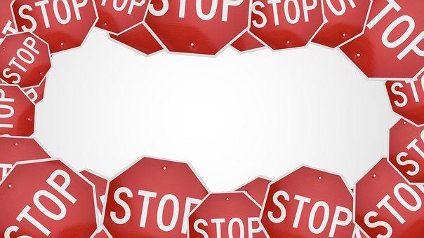 Stop, Sign, Traffic, Danger, Warning, Caution, Road