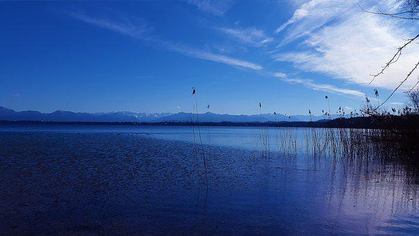 Lake, Sky, Water, Blue, Clouds, Landscape, Nature, Day